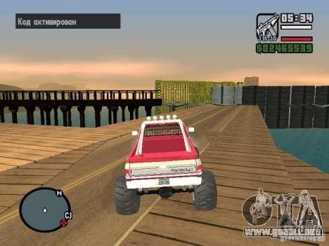 Monster tracks v1.0 para GTA San Andreas quinta pantalla