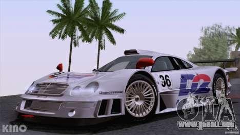 Mercedes-Benz CLK GTR Road Carbon Spoiler para vista lateral GTA San Andreas