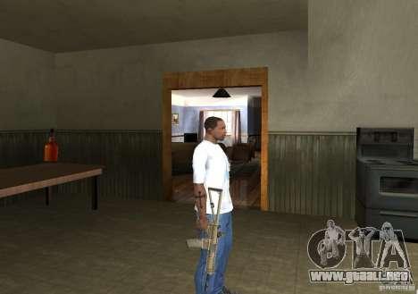 KAC PDW para GTA San Andreas sucesivamente de pantalla