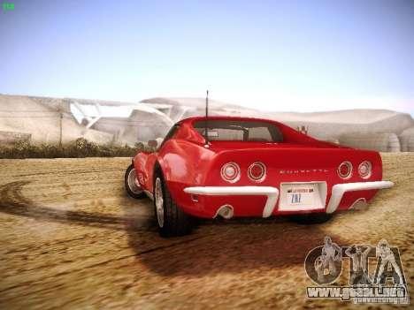 Chevrolet Corvette Stingray 1968 para visión interna GTA San Andreas