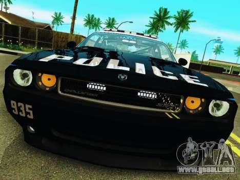 Dodge Challenger SRT8 2010 Police para GTA San Andreas left