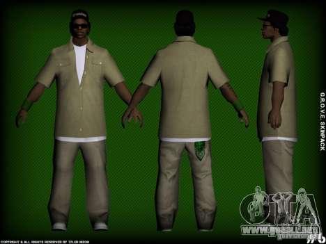 G.R.O.V.E. Skinpack para GTA San Andreas sucesivamente de pantalla