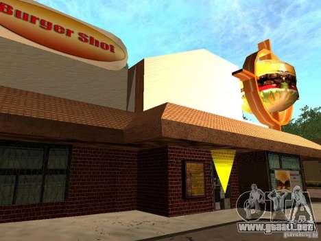 New Burger Shot para GTA San Andreas segunda pantalla