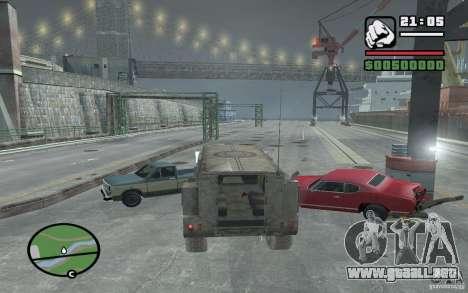 Camión militar para visión interna GTA San Andreas