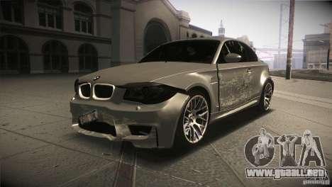 BMW 1M E82 Coupe 2011 V1.0 para la vista superior GTA San Andreas