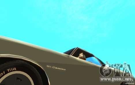Chevrolet El Camino 1972 para visión interna GTA San Andreas