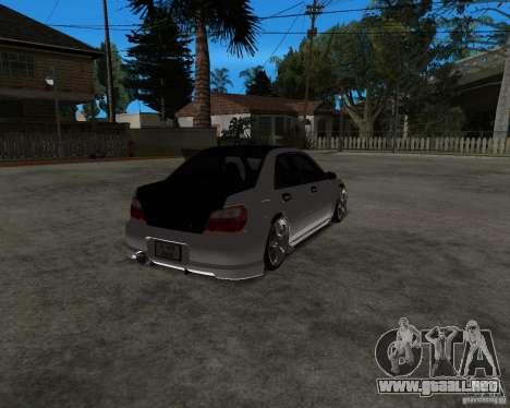 Subaru Impreza (exclusive) para GTA San Andreas left