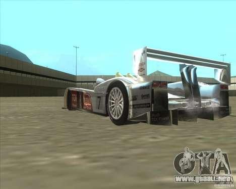 Audi R10 TDI para GTA San Andreas vista hacia atrás
