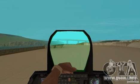 F-22 Starscream para GTA San Andreas vista hacia atrás