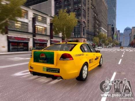 Holden NYC Taxi V.3.0 para GTA 4 vista superior
