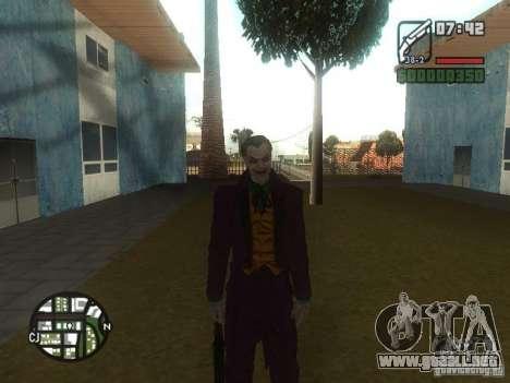 HQ Joker Skin para GTA San Andreas sucesivamente de pantalla
