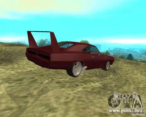 Dodge Charger Daytona para GTA San Andreas vista posterior izquierda