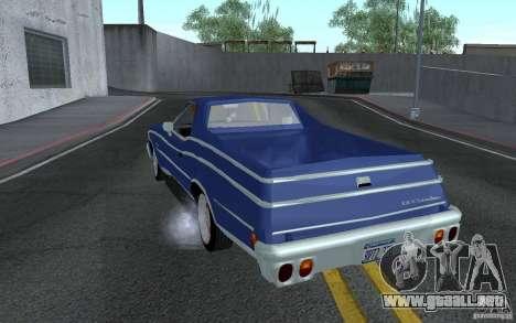 Chevrolet El Camino 1976 para GTA San Andreas vista posterior izquierda