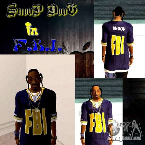 Snoop DoG del FBI. para GTA San Andreas