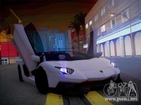 Lamborghini Aventador LP700-4 Roadstar para GTA San Andreas vista hacia atrás