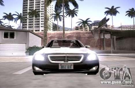 Mercedes-Benz S600 v12 para visión interna GTA San Andreas