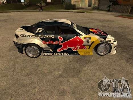 Mazda RX-8 RedBull para GTA San Andreas left