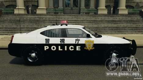 Dodge Charger Japanese Police [ELS] para GTA 4 left