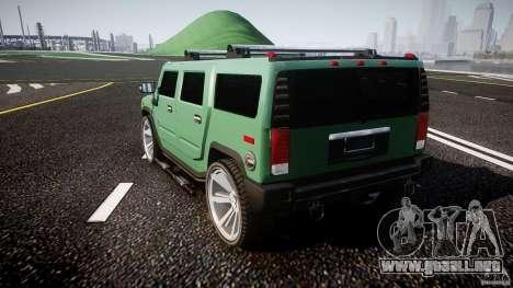 Hummer H2 para GTA 4 Vista posterior izquierda