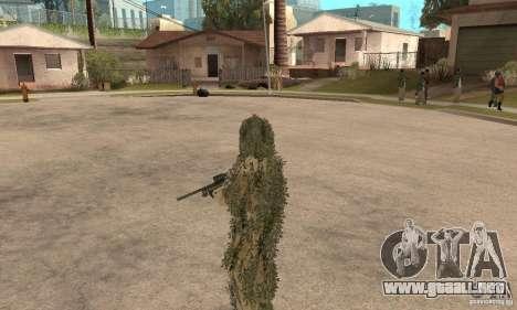 Francotirador de piel para GTA San Andreas sexta pantalla