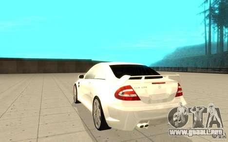 Mercedes-Benz CLK 500 Kompressor para GTA San Andreas vista posterior izquierda