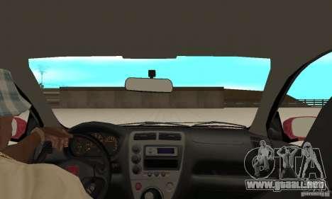 Honda Civic Type R - Stock + Airbags para visión interna GTA San Andreas