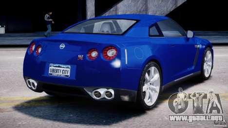 Nissan Skyline GT-R R35 para GTA 4 vista lateral
