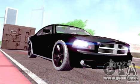 Dodge Charger Fast Five para visión interna GTA San Andreas