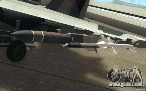 Su-35 BM v2.0 para GTA San Andreas interior