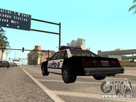 LVPD Police Car para la visión correcta GTA San Andreas