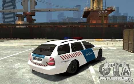 Skoda Octavia Kombi 2005 Hungarian Police para GTA 4 visión correcta
