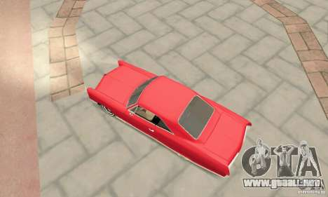 Pontiac Bonneville 1966 para GTA San Andreas vista posterior izquierda