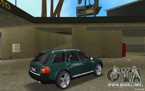 Audi Allroad Quattro para GTA Vice City visión correcta
