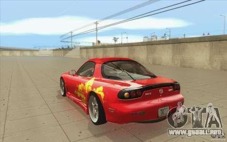 Mazda RX-7 - FnF2 para GTA San Andreas vista posterior izquierda