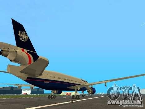 McDonell Douglas DC10 British Airways para la visión correcta GTA San Andreas