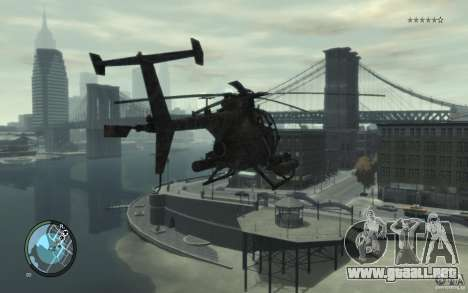 AH-6 Little Bird AcuDigital Camo para GTA 4 left