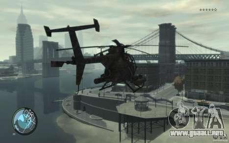 AH-6 Little Bird AcuDigital Camo para GTA 4 left