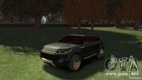 Land Rover Rang Rover LRX Concept para GTA 4