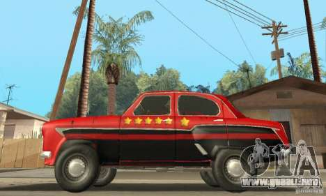 Moskvitch 407 1958 para vista inferior GTA San Andreas