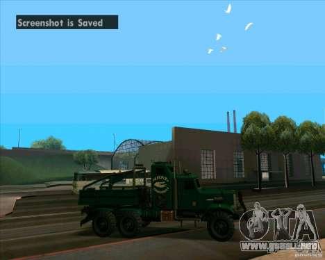 KrAZy Crocodile para GTA San Andreas vista posterior izquierda