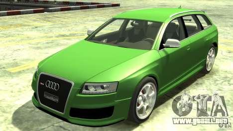 Audi RS6 Avant 2010 Stock para GTA 4