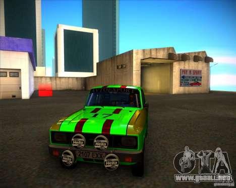 Rally de 2140SL AZLK para GTA San Andreas left