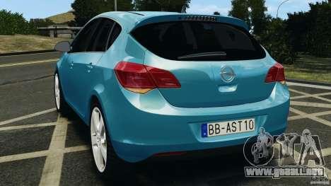 Opel Astra 2010 v2.0 para GTA 4 Vista posterior izquierda