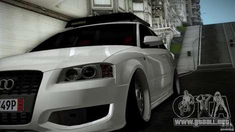 Audi S3 Euro para GTA San Andreas vista hacia atrás