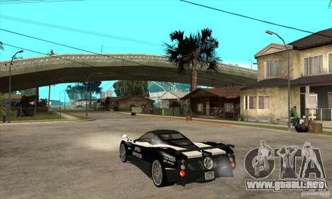Pagani Zonda F Speed Enforcer BETA para la visión correcta GTA San Andreas