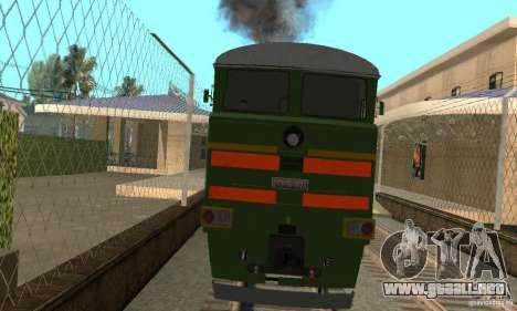 Locomotora 2te116 para GTA San Andreas vista posterior izquierda