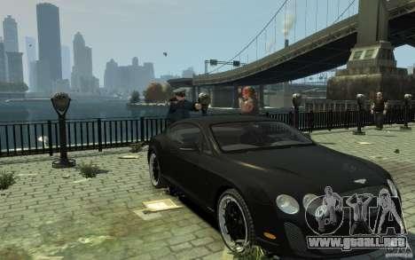 Bentley Continental GT SS para GTA 4 vista hacia atrás