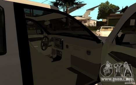 Cadillac Escalade pick up para GTA San Andreas vista posterior izquierda