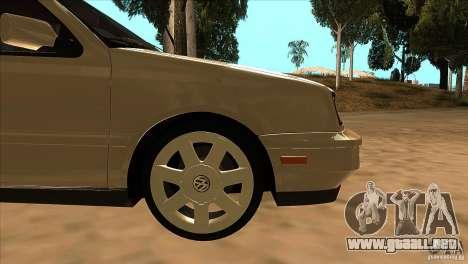 Volkswagen Golf MK3 VR6 para la vista superior GTA San Andreas