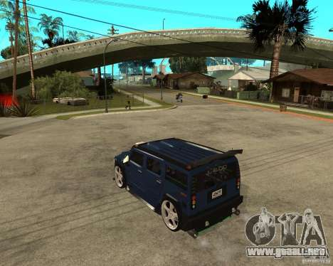 AMG H2 HUMMER Jvt HARD exclusive TUNING para GTA San Andreas left